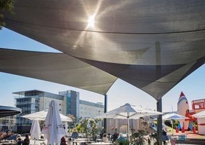 Grey Cafe Shade Sail