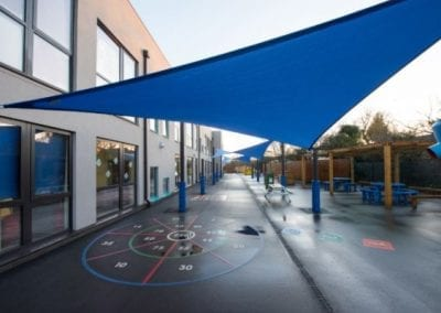 Glenwood School Blue Shade Sail