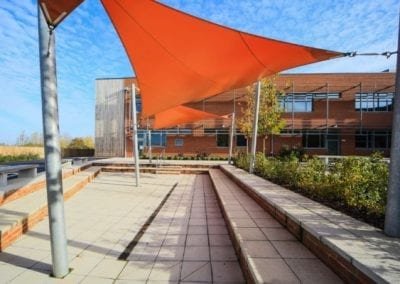 Orange Overlapping Shade Sails