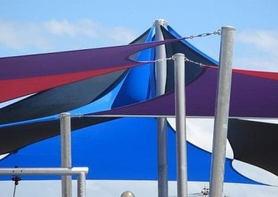 Overlapping Colourful Sails